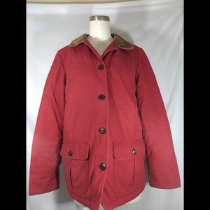 L.L Bean corduroy-lined quilted barn jacket petite